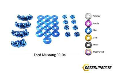 $148.49 • Buy Blue Dress Up Bolt Kit For 1999-04 Ford Mustang GT & Cobra (Engine Bay)