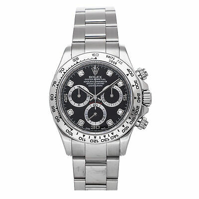 $ CDN44707.68 • Buy Rolex Cosmograph Daytona Auto 40mm White Gold Mens Oyster Bracelet Watch 116509