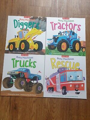 £11 • Buy Miles Kelly  Busy Machines Early Learning 4 Book Set.