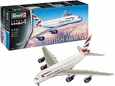 Revell 03922 British Airways A380-800 Plastic 1:144 Scale Model Kit • 26.99£