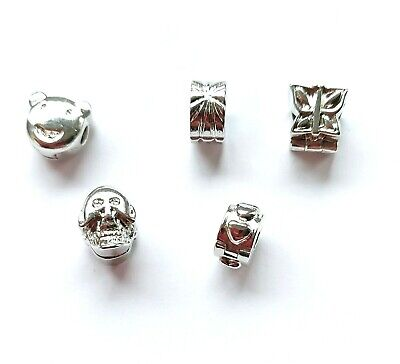 £3.49 • Buy Silver Plated Clip Lock Stopper Bead For European Charm Bracelets - 5 Designs