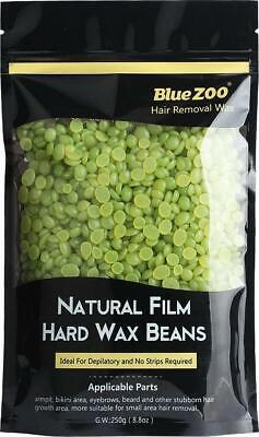 BlueZoo Waxing Hair Removal Hard Wax Beans Low Temperature Natural Hot Film No • 18.62£