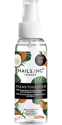 Nails.INC Palms Together 73% Alcohol Cleansing Spray - Coconut Scent • 11.33£