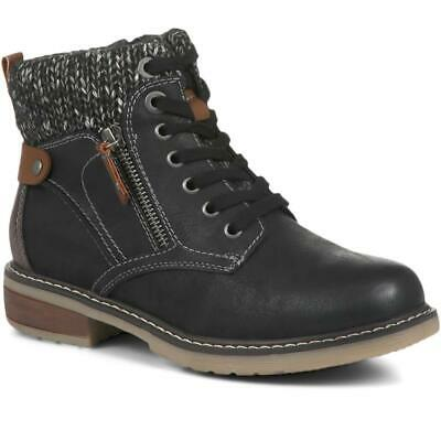 Pavers Women's Lace-Up Zip Fasten Cushioned Ladies Ankle Boots • 39.99£