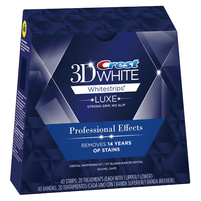 AU36.55 • Buy Crest 3D White Professional Teeth Whitening Strips Kit - 20 Treatments