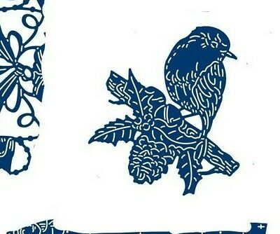 £9.99 • Buy  Tattered Lace ROBIN ON BRANCH Holly Christmas Cutting Die