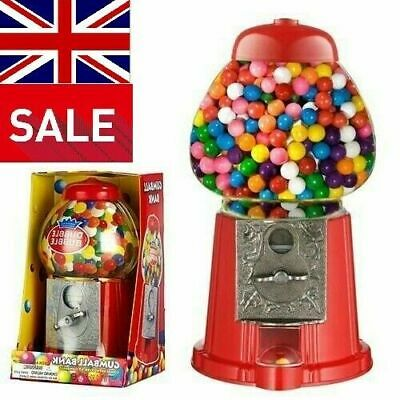 Bubble Gum Gumball Machine Sweet Vending Dispenser Coin Bank Ideal Gift / Treat • 18.99£