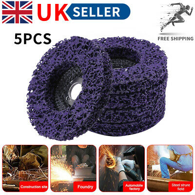 £12.99 • Buy 5 Pcs Poly Strip Disc Wheel Paint Rust Removal Clean For Angle Grinder 100mm