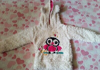 Age 2 Hooded Owl Furry Jumper. • 2.50£