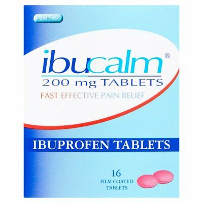 IBUPROFEN - 2 X IBUCALM 200mg FAST EFFECTIVE PAIN RELIEF TABLETS Pack Of 16's  • 4.99£