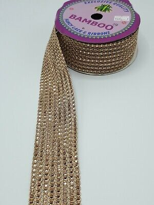 2 Inch Rose Gold Sequnce Lace Border Sold 9 Meter Roll. For Saris, Curtains  • 12£