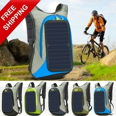 £67.43 • Buy Solar Panel Backpack Battery 6w 6v USB Power Bank Charger Phone Travel Hiking