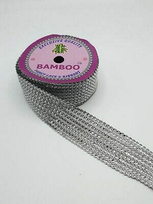 Silver Sequnce Lace Wide Border Sold 9mtr Roll. For Saris, Curtains, Suits Etc • 15£