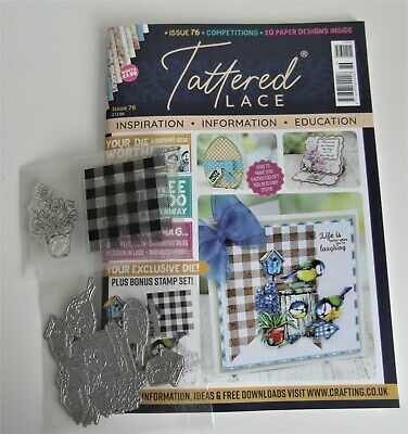 NEW Tattered Lace Issue 76 Magazine With FREE Bird House Die And Stamp Set • 6£