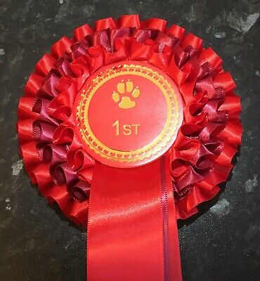 £2.50 • Buy Individual Placing  3 Tier Dog Show Rosettes, 68mm Centre In Quality Satin.