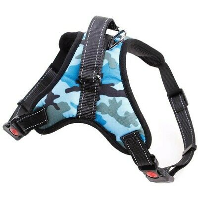 £10 • Buy Dog Harness No-pull Pet Adjustable Outdoor Vest, Size M Blue Camouflage