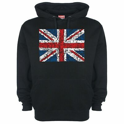 Union Jack Hoodie Hoody British Flag Red White And Blue UK Pride Heavyweight 138 • 22.99£