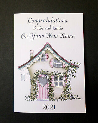 £2.49 • Buy Handmade Personalised New Home Card Any Names