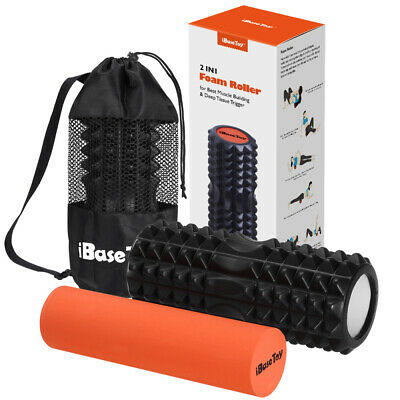AU28.99 • Buy IBASETOY 2 IN 1 Foam Roller For Muscle Massage Deep Tissue Trigger Yoga Home Gym