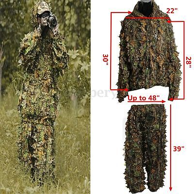 AU27.45 • Buy 3D Leaf Camo Camouflage Clothing Hunting Ghillie Suit Woodland Training Sniper