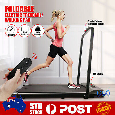 AU285.59 • Buy LCD Foldable Electric Treadmill Walking Pad Home Gym Exercise Fitness 1-6KM/H I