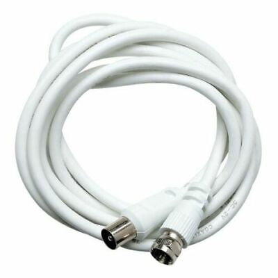 AU4.68 • Buy Clipsal TV Antenna Cable PAL Male To F Type Aerial Cord Coax Long Flylead 1.8m