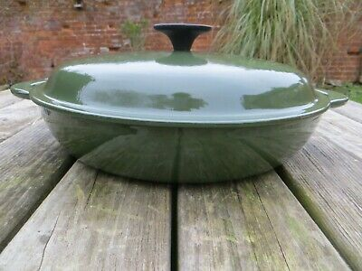 Le Creuset Cast Iron Medium Large Shallow Casserole Green (26) • 65£