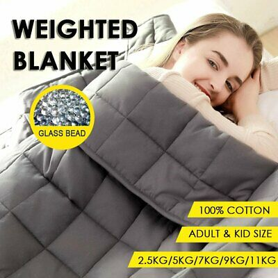 AU60.99 • Buy Weighted Blanket Adults Kids 2.3/7/9/11kg Promote Deep Sleep Relax Heavy Gravity