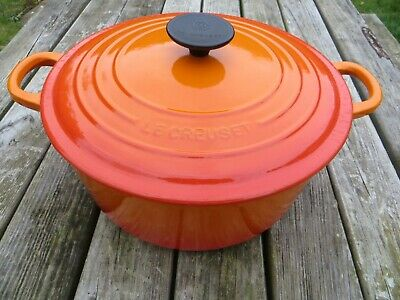Le Creuset Cast Iron Large Casserole Orange (26) • 72£