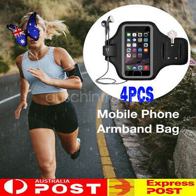 AU19.99 • Buy 4PC Pouch Armband Case Sports Gym Running Exercise For Apple IPhone XR X 8 7Plus