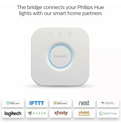 AU63.19 • Buy Philips Hue Bridge Wireless Lighting Controller Brand New V2.1