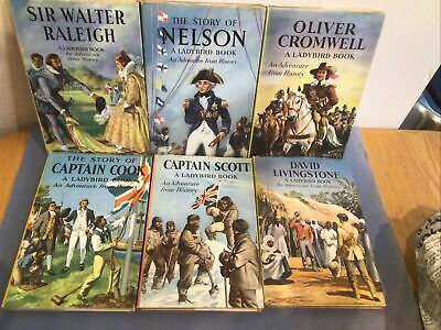 """Six Vintage Ladybird Books """"An Adventure From History"""" • 4.50£"""