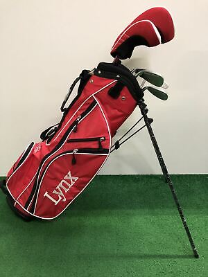 AU252.73 • Buy NEW Lynx Red Package Junior Set / 51  - 59  (Age 7 - 11) / 6 Clubs + Bag