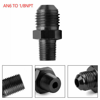 AU6.99 • Buy New AN6 TO 1/8NPT ORB-6 Straight Fuel Oil Air Hose Fitting Male Adapter Black