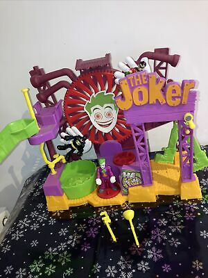 Imaginext DC The Joker Fun House Playset With  3 X Figures USED • 14.50£
