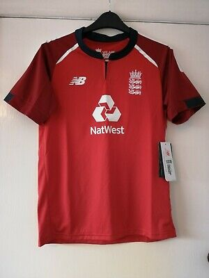 ECB England Cricket Shirt Junior Large 14 Years BNWT • 8.50£