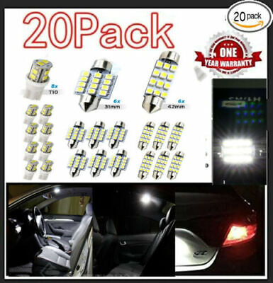 $8.16 • Buy 20x Combo LED Car Interior Inside Light Dome Map Door License Plate White USA