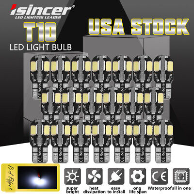 $8.99 • Buy 20Pcs White LED Interior Dome Map License Light Bulb T10 2825 168 158 194 CANBUS