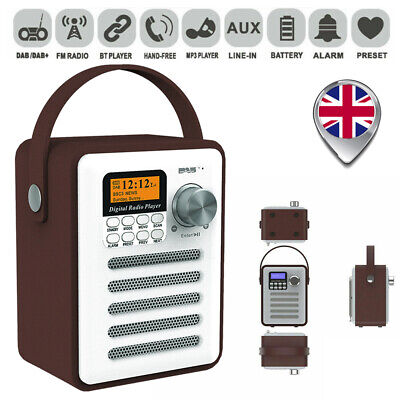 £32.99 • Buy Portable DAB Digital Rechargeable Stereo Bluetooth FM AUX Radio Audio MP3 Player