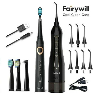 View Details Water Flosser Rechargeable 300ML Water Tank &Sonic Electric Toothbrush Fairywill • 43.98$