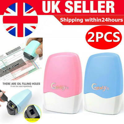 2Pcs Identity Theft Protection Roller Stamp Privacy Confidential Data Guard ID • 5.99£
