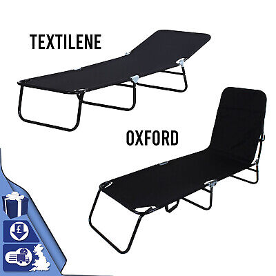 £39.89 • Buy  Foldable Outdoor Sun Lounger Recliner Bed Garden Chair Relaxing Camping - Black