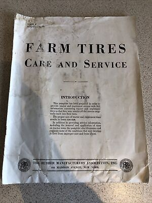 AU8.90 • Buy Old Farm Tractor Tyres Rubber Growers Association Tractor Tyre Book 1930s???