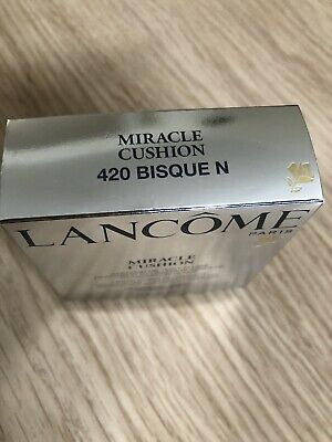Brand New Unopened Lancome Miracle Cushion Foundation Refill 420 Bisque N 14 G • 9£