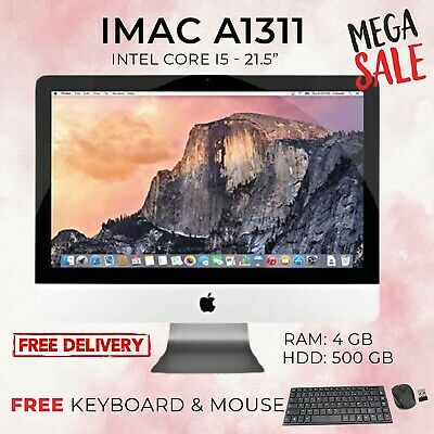 Apple IMac  21.5  A1311 Intel Core I5 2.5GHz 4GB 500GB HD 2011 GRADE A- Ref 3 • 209£