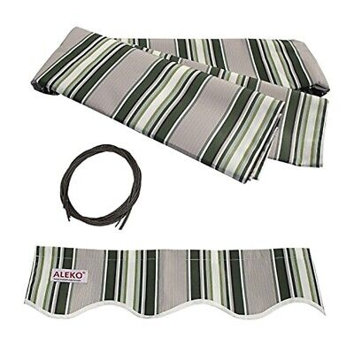 $ CDN95.05 • Buy ALEKO Fabric Replacement For 13x10 Ft Retractable Awning Multistripe Green Color