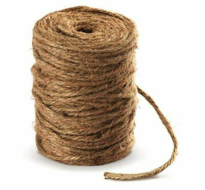 Absofine 100M Garden Cord Jute Twine String 4mm Thick Strong Natural Jute Rope • 10.99£