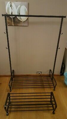 IKEA Portis Hanging Rail + Shoe Rack, Brown/chocolate, Excellent Condition • 20£
