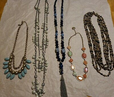 $ CDN35.09 • Buy Designer Statement Necklace  Lot-Erica Lyons Lia Sophia Loft Trifari White/Black