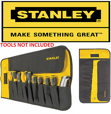 £8.59 • Buy Stanley 12 Pocket Tool Roll / Chisel Roll Strong Fabric / Tool Tidy 1-93-601